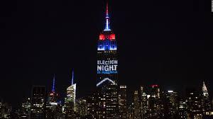 empire state building lights tonight empire state building lights up on election night cnn video