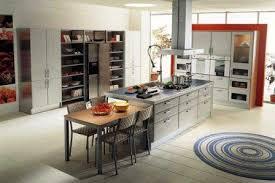 cuisine ouverte avec ilot table modele de cuisine americaine avec ilot central maison design