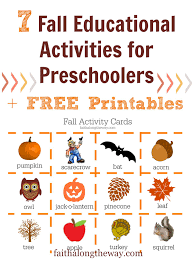 fall educational activities for preschoolers