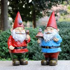 Christmas Garden Decorations by Handmade Vintage Free Resin Garden Figurines Gnomes For Sale Poly