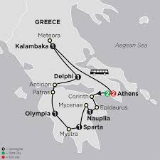 Corinth Greece Map by The Best Of Greece Tour Cosmos Tours