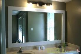 Framing An Existing Bathroom Mirror Frame Your Existing Bathroom Mirror Framed Mirrors Kit Reflected