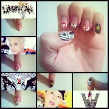 amber u0027s solo debut shake that brass mv inspired nail art