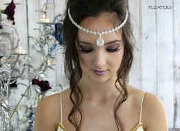 forehead headband bridal headband forehead headpiece forehead jewelry