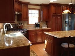 updated kitchen ideas schrock whiskey black on cherry cabinets kitchen designs we