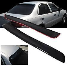 2001 toyota corolla spoiler amazon com 1998 2002 toyota corolla abs rear roof window visor