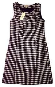 houndstooth dress loft black and white houndstooth shift mini work