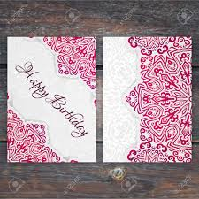 lacy vector birthday card template romantic vintage wedding