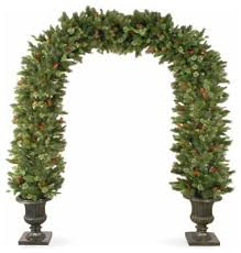 8 1 2 pine archway decoration with cones and snowflakes