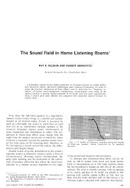 15 Cabinet Positions Aes E Library The Sound Field In Home Listening Rooms