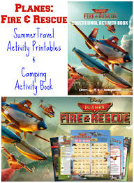 free planes fire u0026 rescue activity printables u0026 camping book