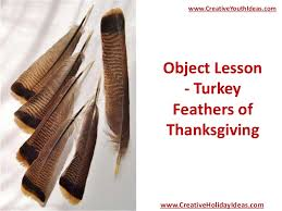 object lesson turkey feathers of thanksgiving