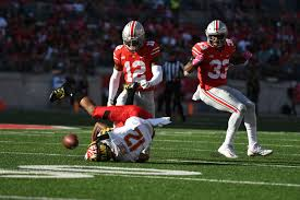 Blind Side Block Penalty Meyer Says Big Ten Admits To Incorrect Ward Targeting Call