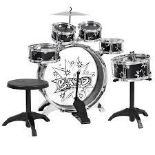 black friday electronic drum set bcp kids toy musical instrument 11 piece kids drum set w bass