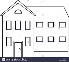 house outline big house and many windows outline stock vector art u0026 illustration
