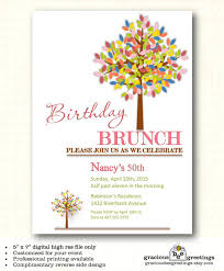 birthday brunch invitation wording colors inexpensive birthday brunch invitations with
