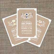 high tea baby shower invitation tea party invite for baby