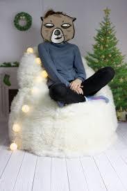 furniture u0026 rug elegant and comfy sheepskin beanbag ideas