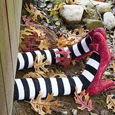 make a witch landing for halloween outdoor halloween decorations
