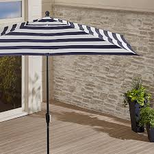 striped rectangle patio umbrella crate and barrel