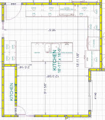 large kitchen floor plans graceful kitchen floor plans with dimensions painting plan designs
