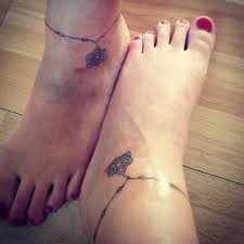 celtic ankle bracelet matching tattoos