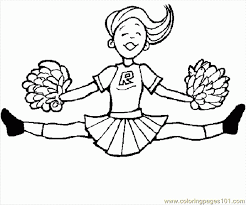 coloring pages cheerleader page sports others free 619245