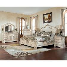 The Exquisite Old World Beauty Of The Ortanique Sleigh Bedroom Set - Ashley furniture bedroom set marble top