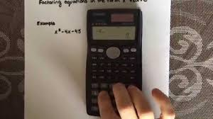 factoring a simple quadratic equation using a calculator casio fx 991ms you