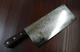 Custom Japanese Kitchen Knives Japanese Sushi Knife Damascus Cleaver By Shinichi