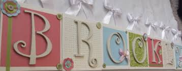 baby plaques personalized nursery hanging wall letters kids baby name plaque