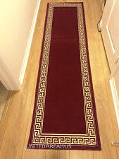 2x8 runner rug modern greek key design hallway solid burgundy size