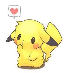 coloriage pikachu kawaii