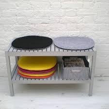 felt chair pad cushion pink grey black felt projects