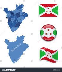 Burundi Map High Detailed Map Burundi Flag Icons Stock Vector 294947060