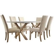 Light Oak Dining Room Sets Homesullivan Upton 7 Weathered Light Oak Dining Set 405100