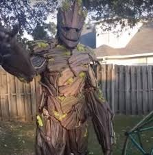 groot costume builds amazing groot costume for himself and adorable rocket