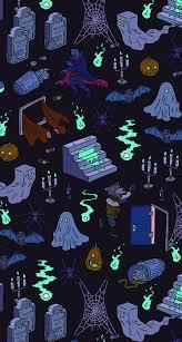 halloween illustrations halloween pattern for iphone blue infinity pinterest