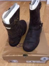 s ugg australia brown grandle boots ugg grandle biker boots brown size 5 5uk ebay