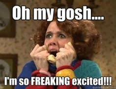 Excited Girl Meme - i m like the pointer sisters over here i m so excited and i just