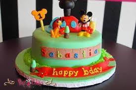 birthday cake disney boy 1 tier green plastic figurines