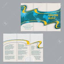 Free World Map Tri Fold Flyer Brochure Template Design With Scribbled World
