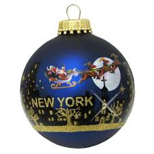 santa claus nyc skyline ornament