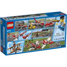 lego city airport airport air show building set 60103 walmart com