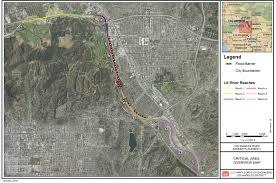 Los Angeles River Map by Los Angeles District U003e Missions U003e Emergency Management U003e El Nino