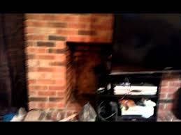painting red brick fireplace a stone grey youtube