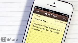 how to change the default font in the notes app for iphone and