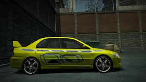 mitsubishi evo 7 2 fast 2 furious mitsubishi lancer evo viii 2fast 2furious by eze258yo need for