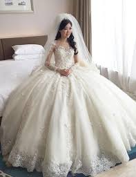 wedding dress ball gown wedding dresses with lace sleeves the