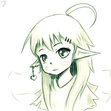 elf sketch by aoitamashi on deviantart